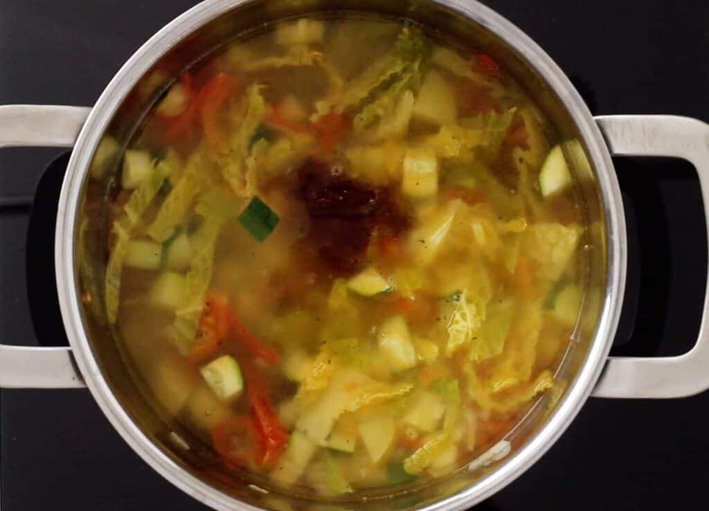 vegetable soup recipe last step