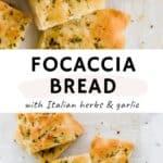 focaccia bread pinterest pin