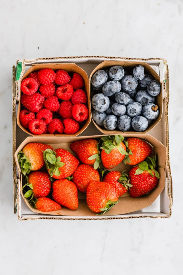 fresh berries in a box