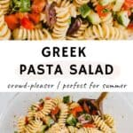 Greek Pasta Salad Pinterest Pin