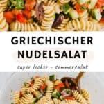 Griechischer Nudelsalat Pinterest Pin