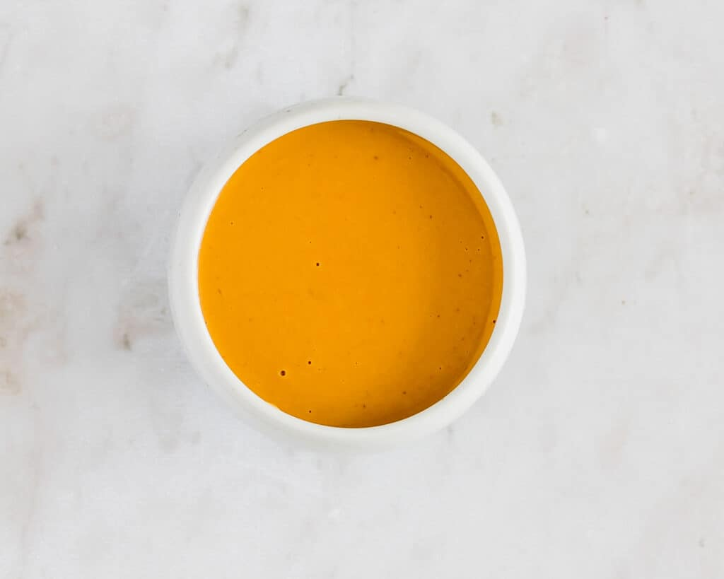 peanut sauce in a small bowl