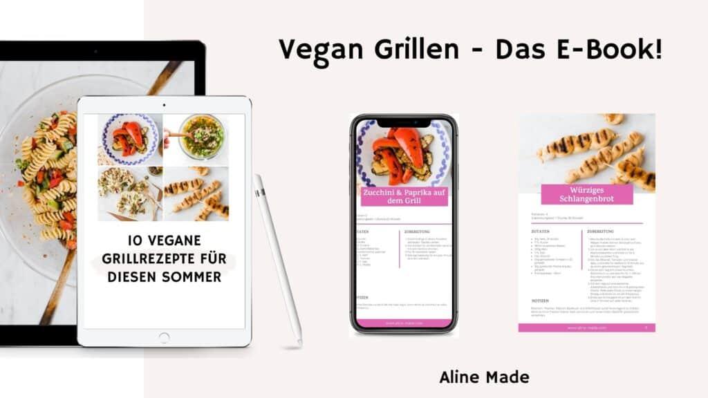 Vegan Grillen - Das E-Book Mockup