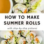 vegan summer rolls pinterest pin
