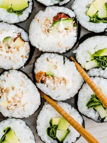sushi macro shot