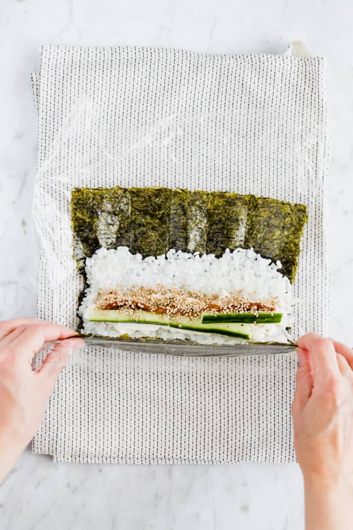 vegan sushi recipe step 6