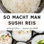 sushi reis selber machen pinterest pin