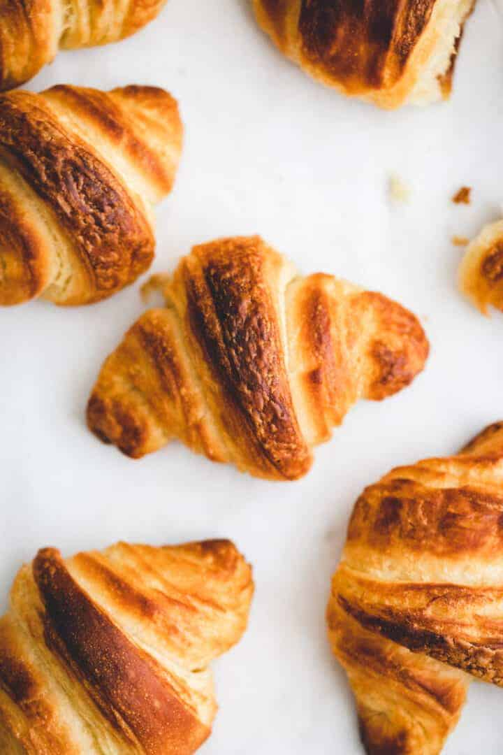vegan croissant on a white table