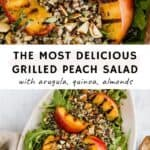 grilled peach salad pinterest pin