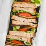 sliced blt sandwiches