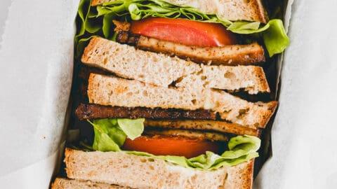 Veganes Blt Sandwich Mit Tofu Speck Aline Made