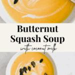 butternut squash soup pinterest pin