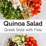 greek quinoa salat pinerest pin