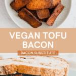 tofu bacon pinterest pin