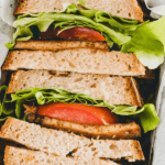 vegan blt sandwich pinterest pin