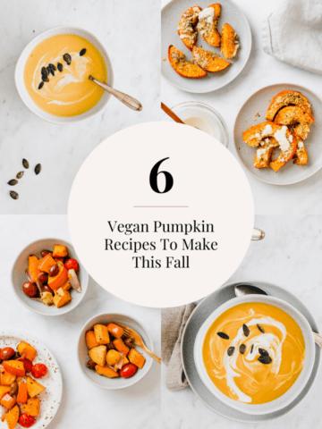 6 vegan pumpkin recipes to make this fall
