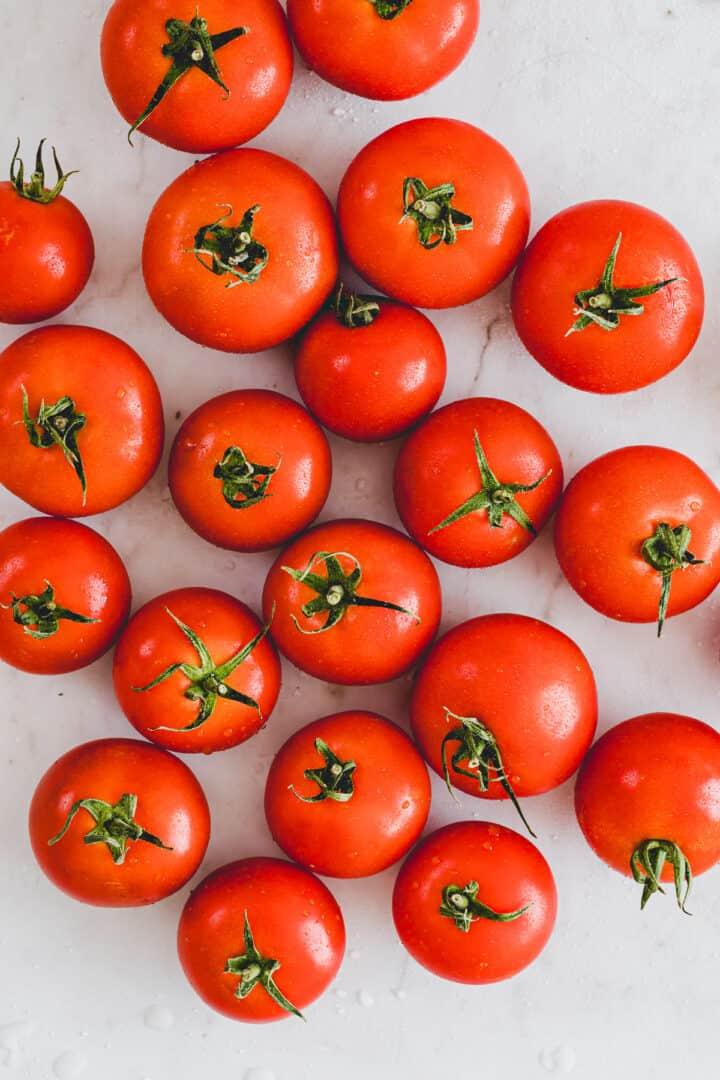 ripe summer tomatoes