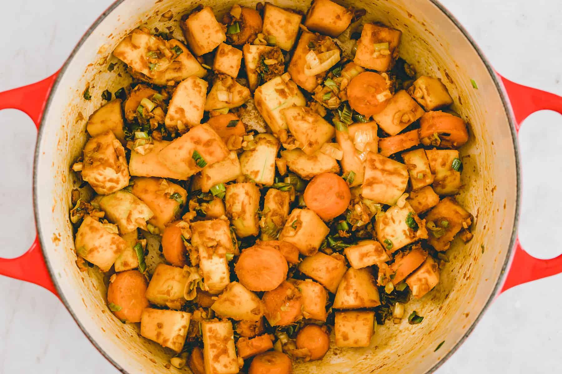 kürbis curry rezept schritt 1