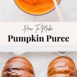 Pumpkin Puree Pinterest Pin