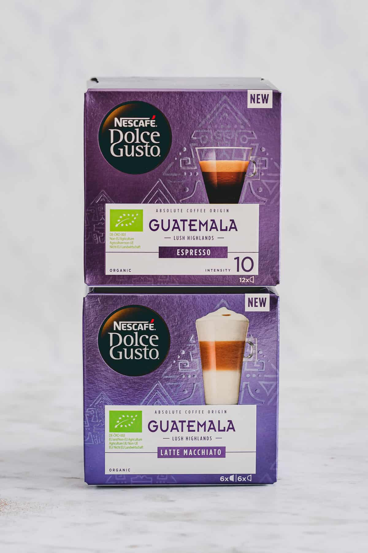 two boxes of organic guatemala coffee by NESCAFÉ Dolce Gusto