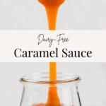 vegan caramel sauce pinterest pin