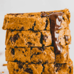 vegan pumpkin chocolate chip bread pinterest pin