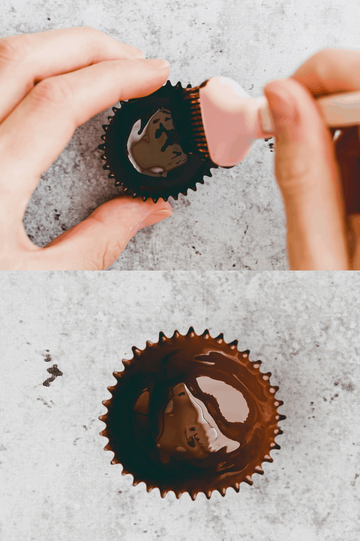 Salted Caramel Chocolate Cups Recipe Step-1-2