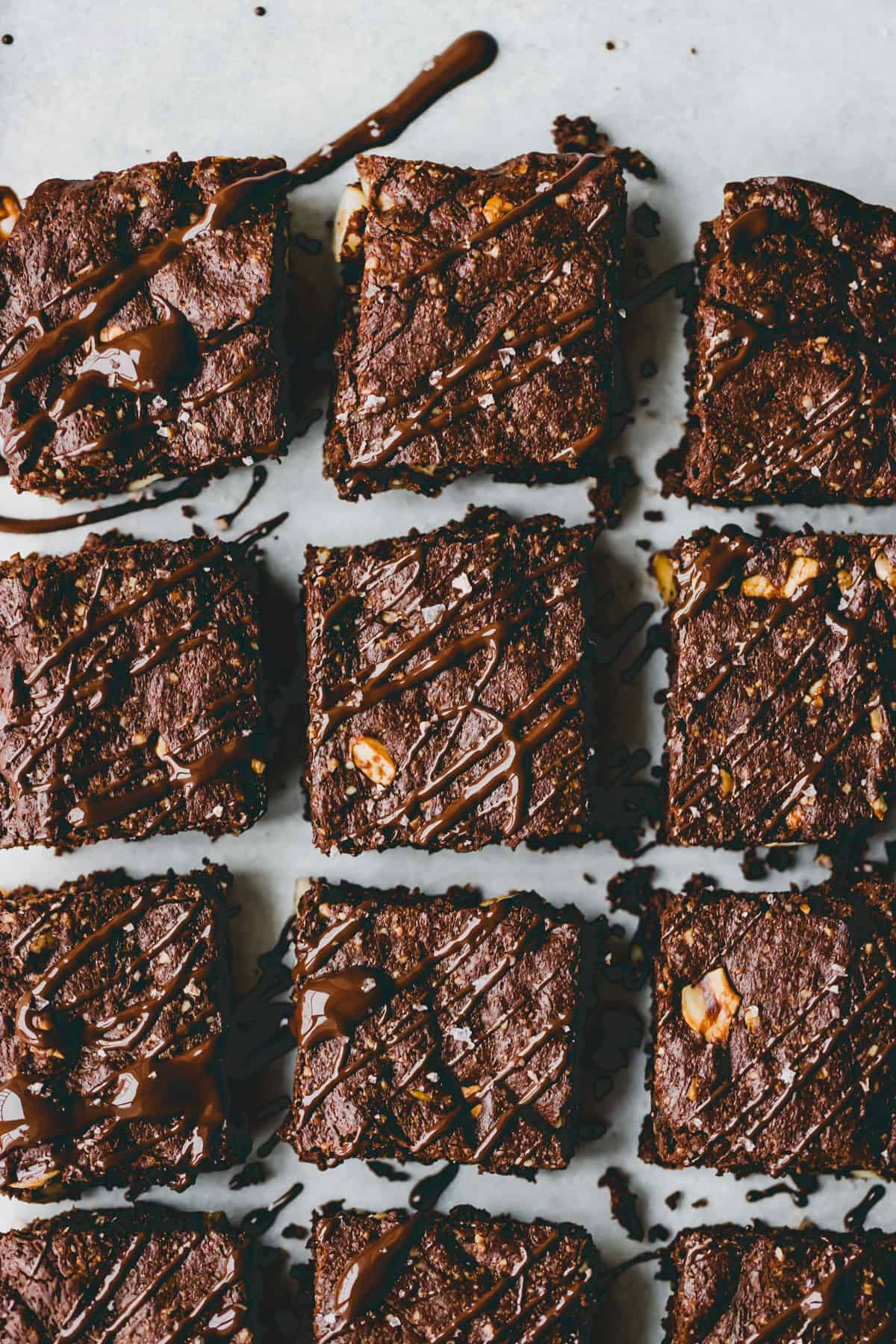 close up shot of paleo brownies