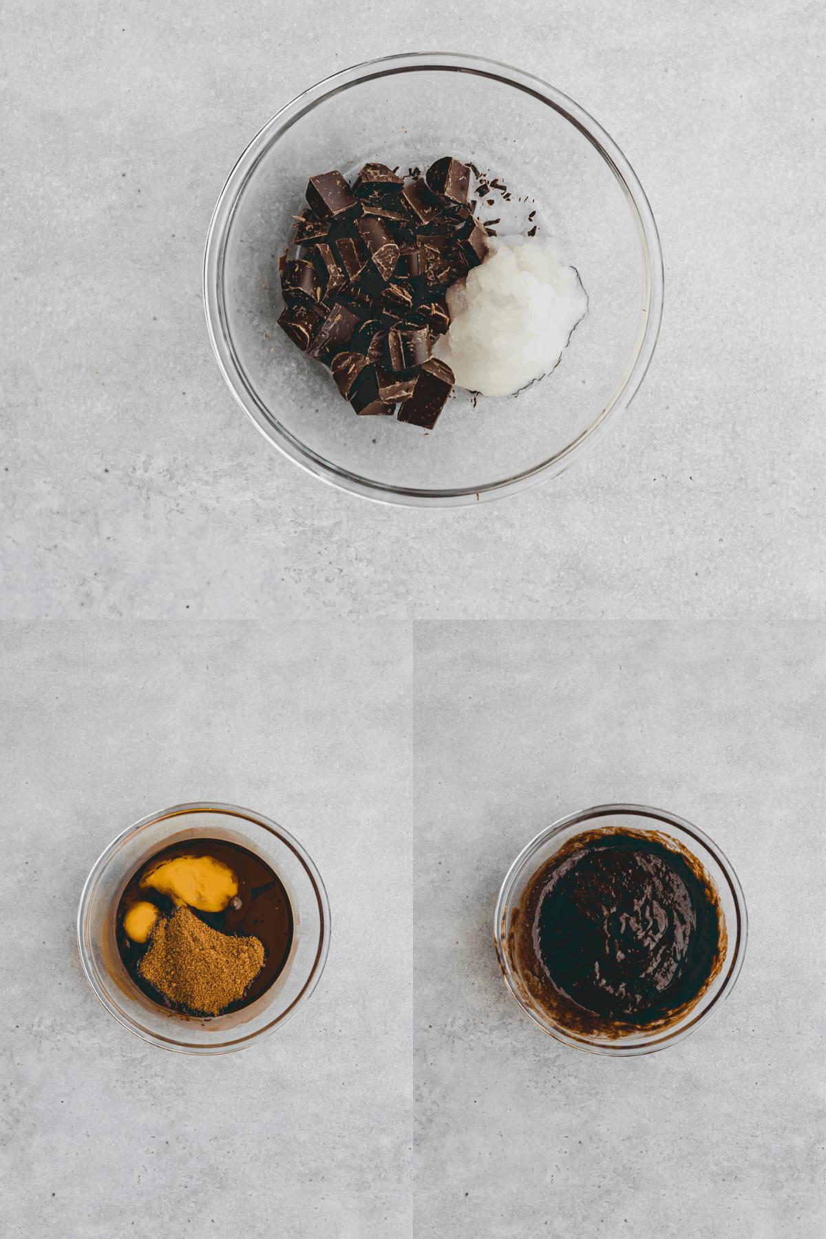 Gesunde Brownies Rezept Schritt-1-3