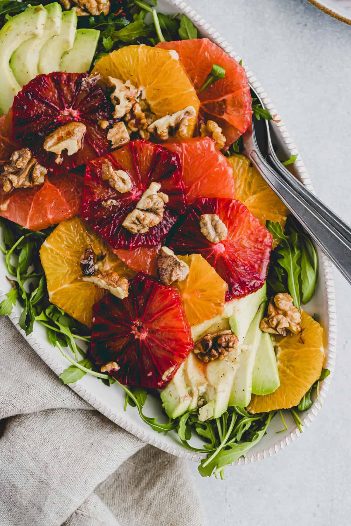 winter citrus salad with arugula