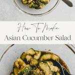 asian cucumber salad pinterest pin