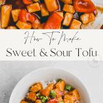 sweet & sour tofu pinterest pin