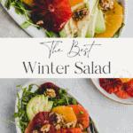winter citrus salad pinterest pin