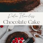 Flourless Chocolate Cake Pinterest Pins