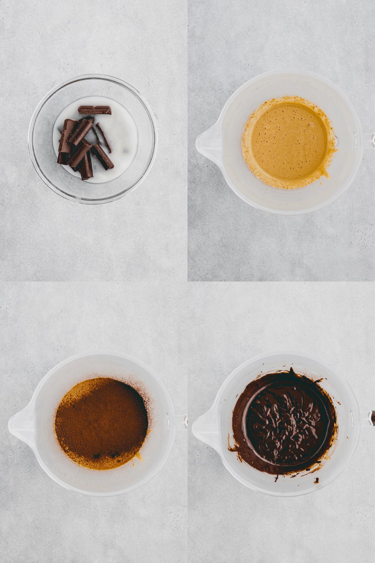 Flourless Chocolate Cake Recipe Step-1-4