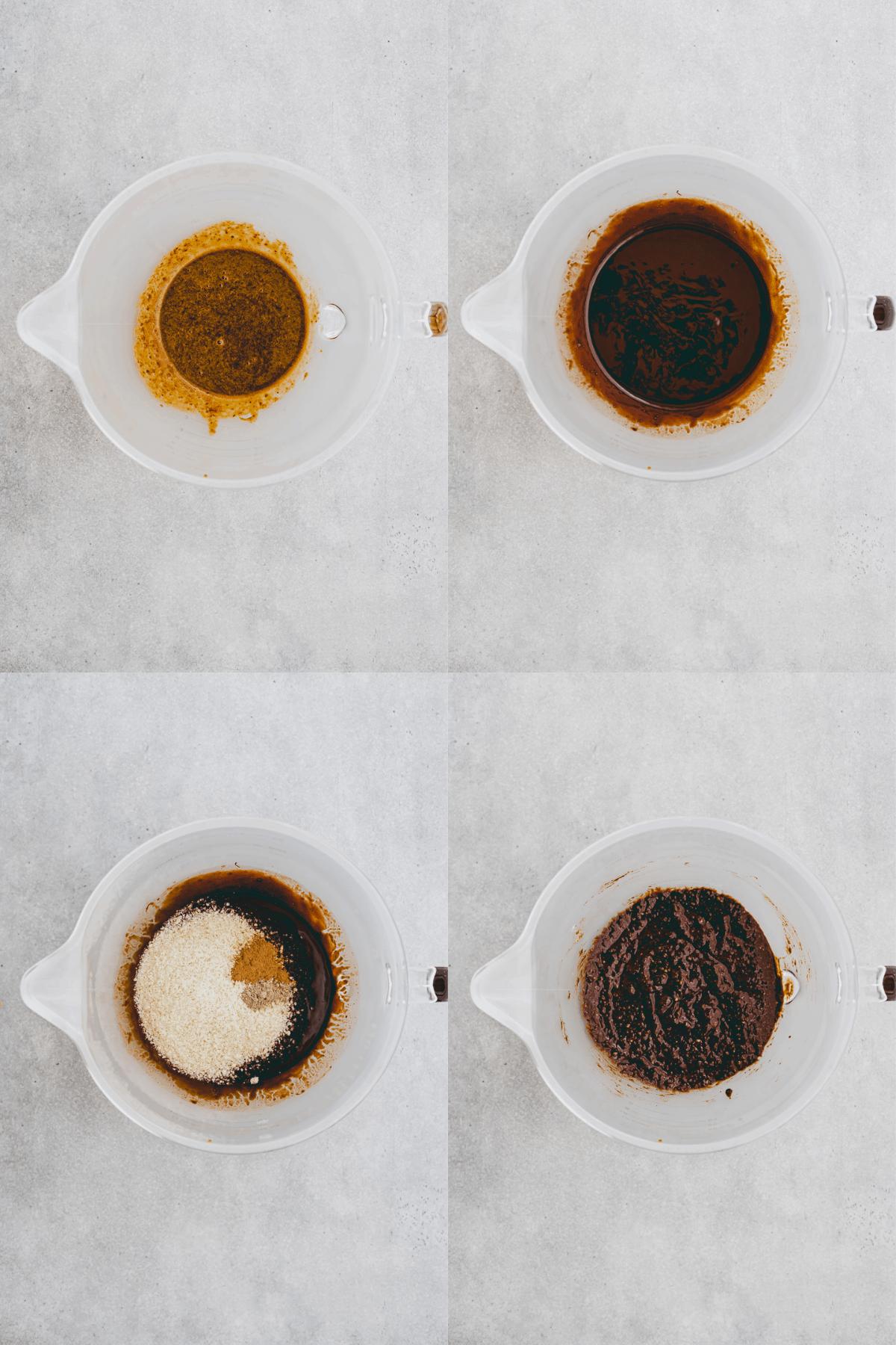 Schoko-Birnen-Kuchen Rezept Schritt-1-4