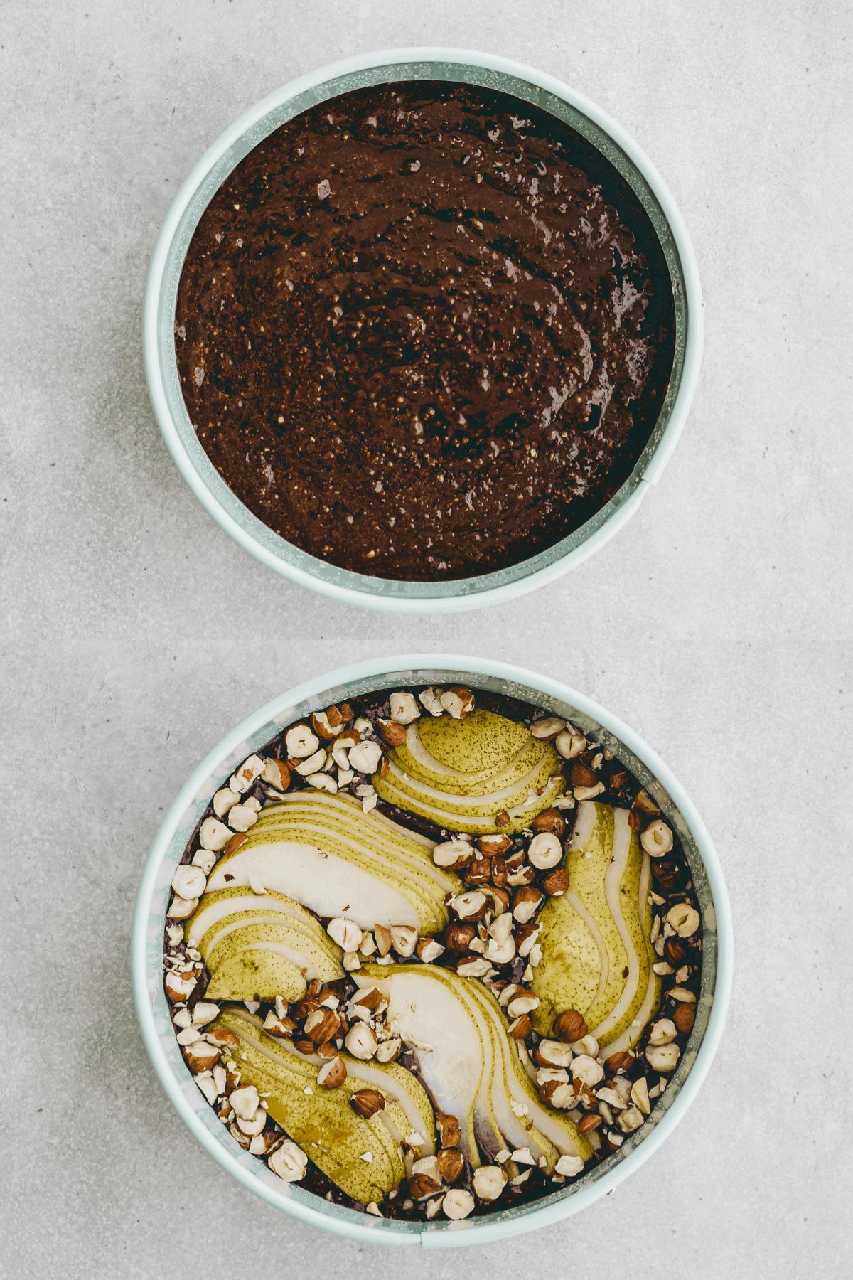 Schoko-Birnen-Kuchen Rezept Schritt-8-9