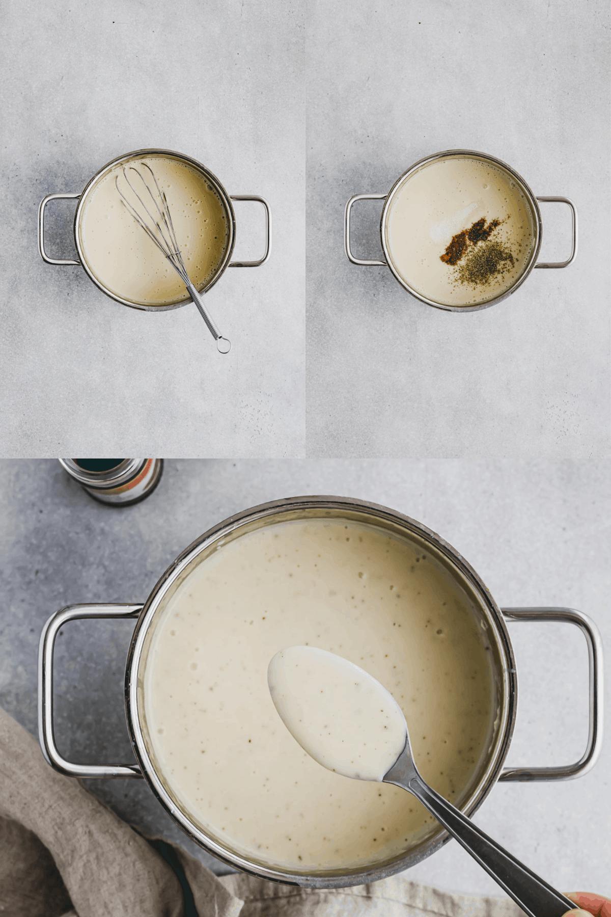 Vegan Bechamel Sauce Recipe Step 5-7