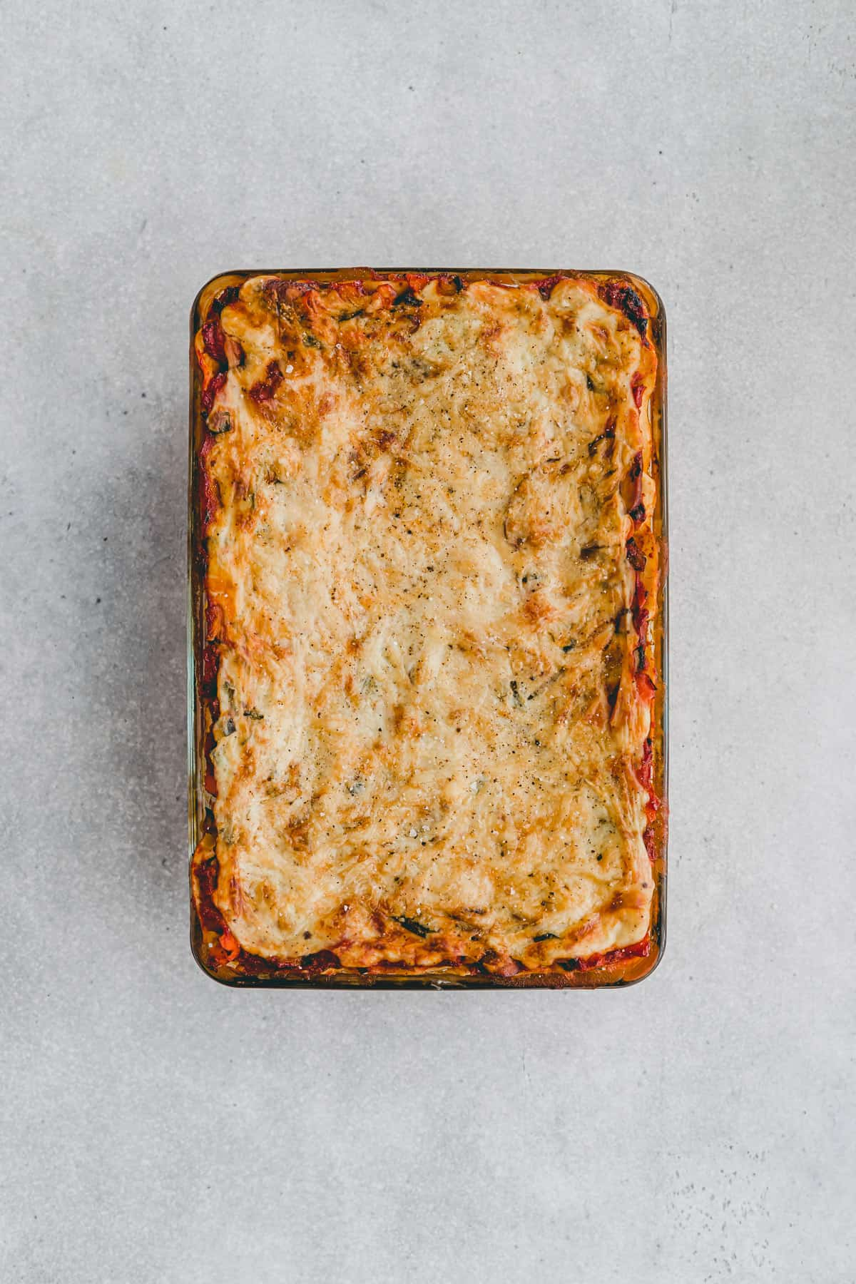 baked vegetable lasagna with white sauce