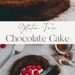 flourless chocolate cake pinterest pin 2