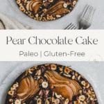 pear chocolate cake pinterest pin 1