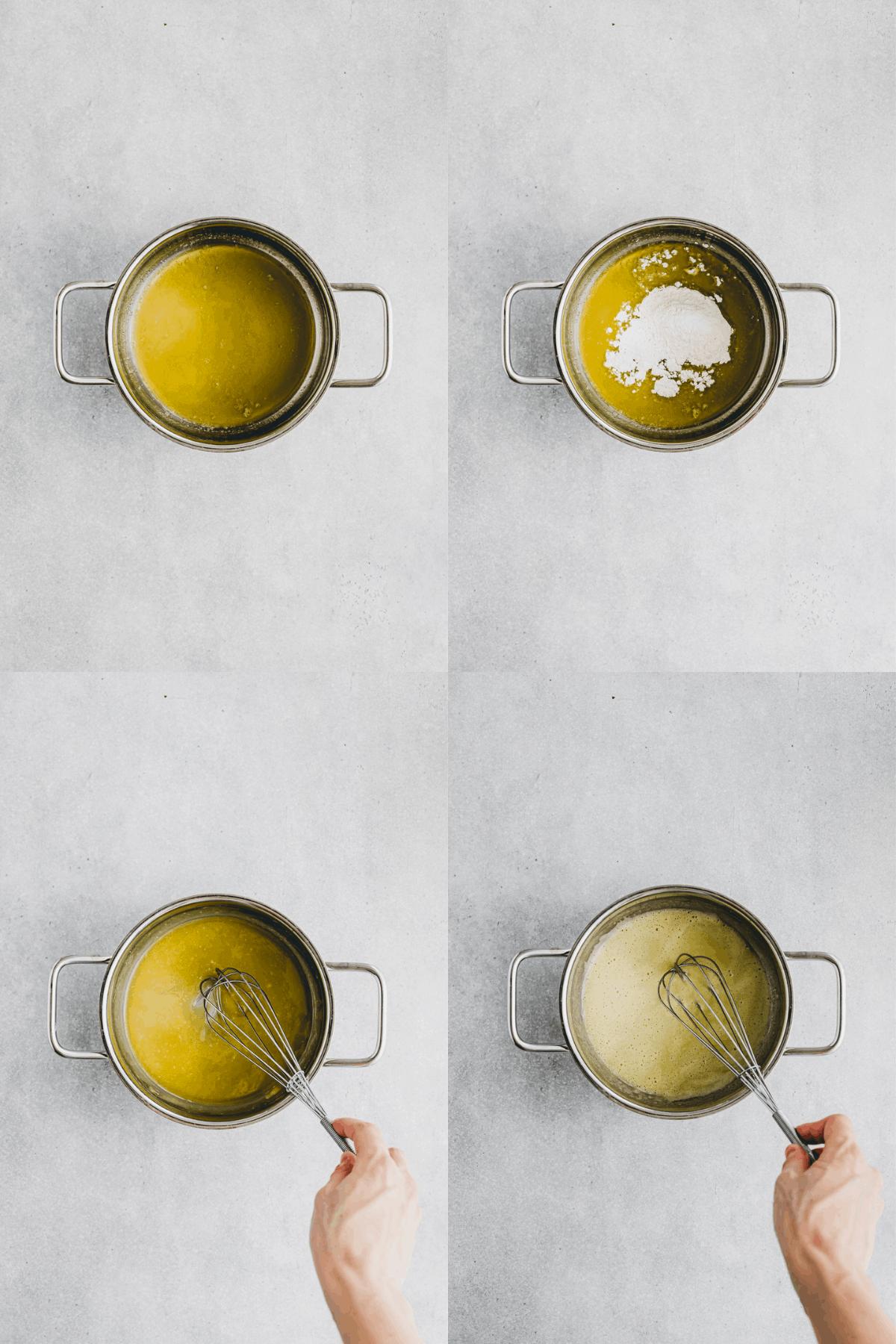 vegan bechamel sauce recipe step 1-4