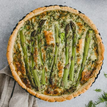 asparagus quiche with brie cheese