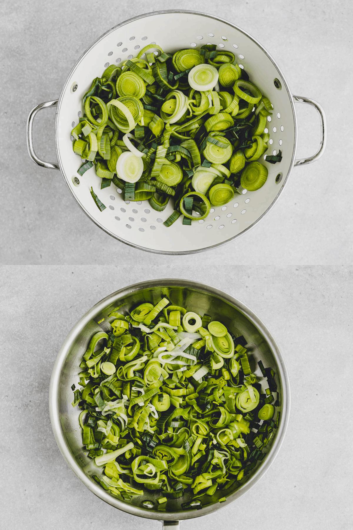 Vegetarische Lauch-Quiche Rezept Schritt-9-10