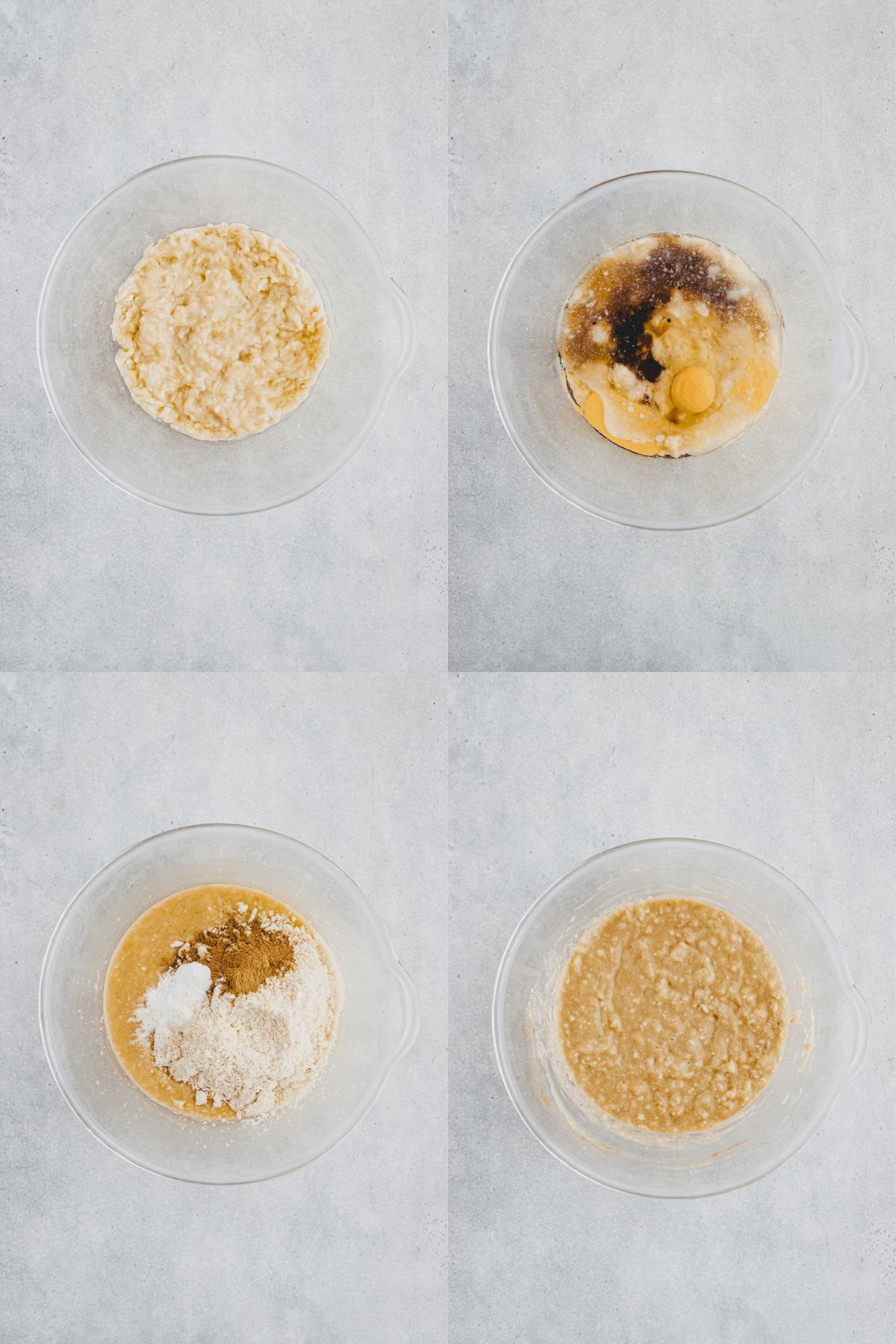 Paleo Banana Bread Recipe Step 1-4