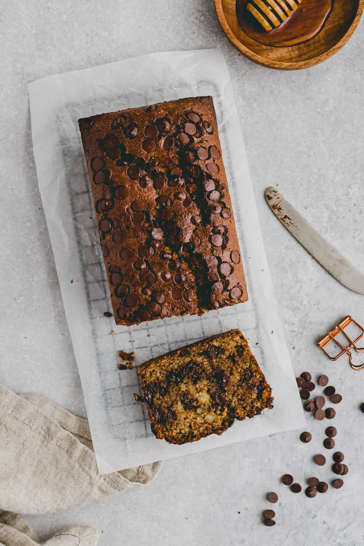 paleo zucchini bread with chocolate chips