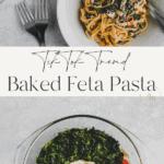 baked feta pasta pinterest pin