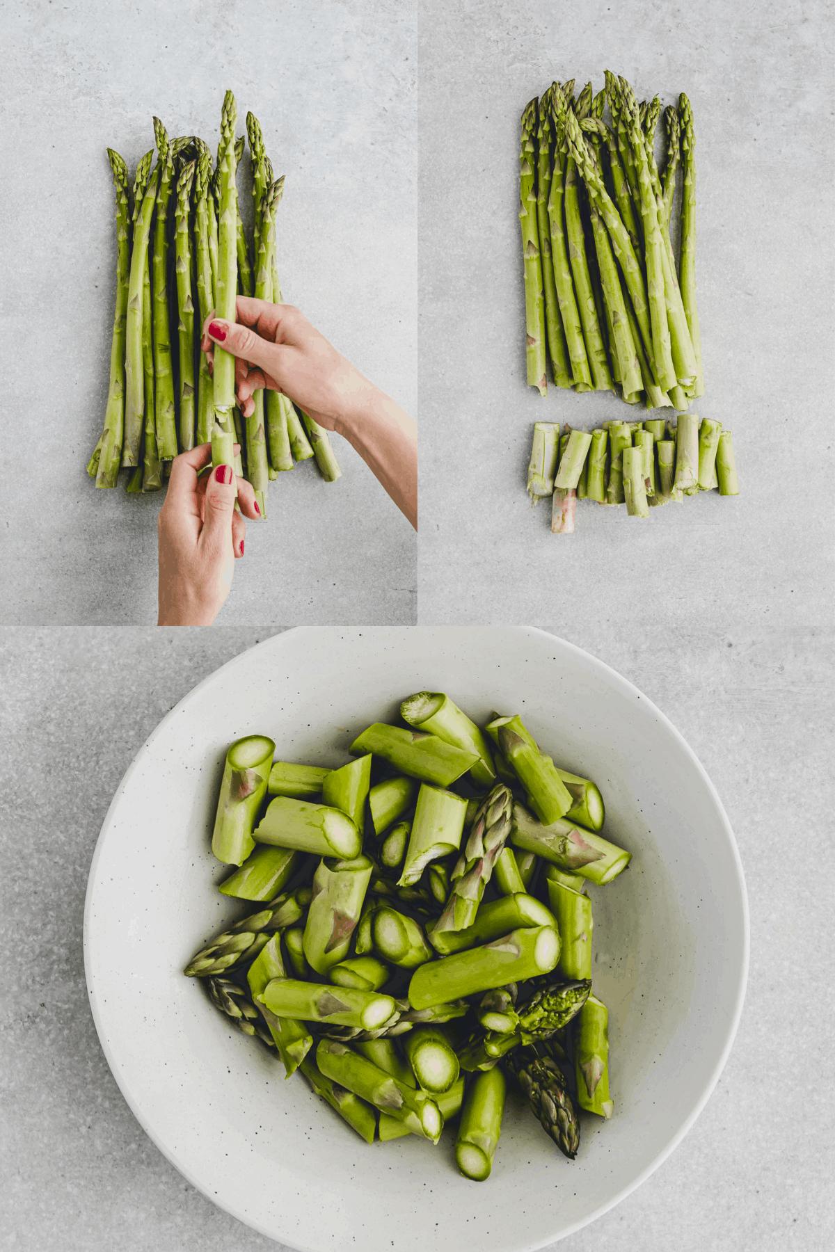 Asparagus Carbonara Recipe Step 1-3