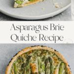 Asparagus Quiche Pinterest Pin