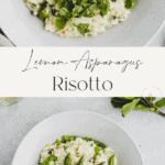 Asparagus Risotto Pinterest Pin